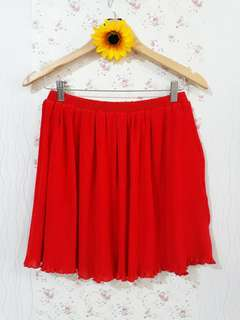 """RED SKIRT STRETCHABLE W:26""""-30"""""""
