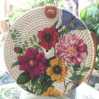 Floral Rattan Bag ONE DAY SALE ON 15 AUG