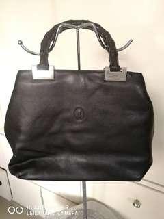 St. Jack leather bamboo handle bag