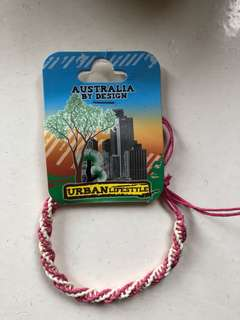 澳洲手繩 Australia 粉紅色