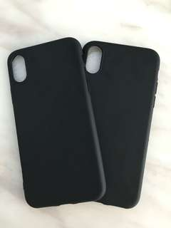 Apple iPhone X 黑色磨沙手機軟膠套