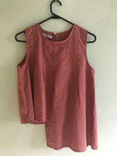 🚚 Zenzii asymmetrical dusty pink TOP