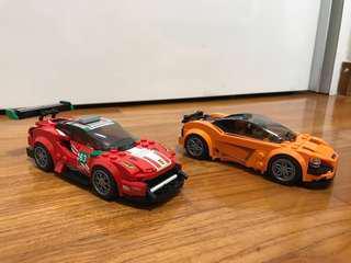 Lego Speed Champions Ferrari 488 and Mclaren 720s