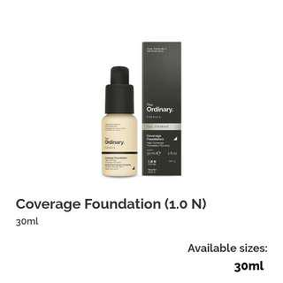 the ordinary coverage foundation (PREORDER)