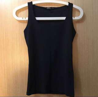 Bershka Black Lycra Sleeveless Top