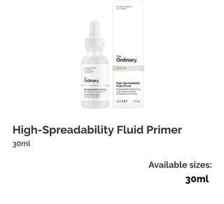 the ordinary high spreadability fluid primer