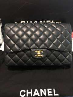 Chanel Lambskin jumbo single flap bag