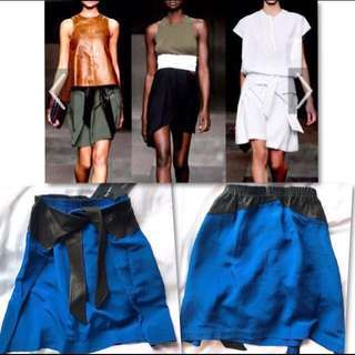 🆕 Damir Doma Leather Knot Skirt 真皮藍色半截裙