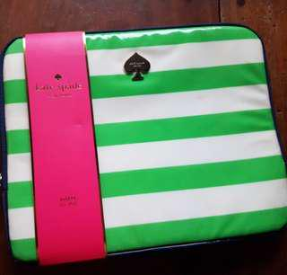 KATE SPADE PETUNIA STRIPE PADDED ZIP UP IPAD CASE