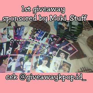 1st giveaway sponsored by Moki stuff on instagram