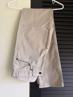 Uniqlo Long Pants - Beige color