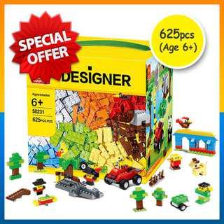 ⭐Box Spoilt⭐Lego Compatible 625pcs Bricks Building Blocks Toy (Age 6+)