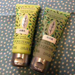 L'occitane Shower Gel + Body Cream 沐浴露+身體乳