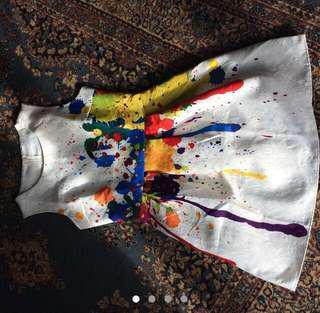 🌈 Rainbow paint splatter dress 🌈