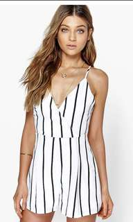 BRAND NEW Stripe Wrap Front Playsuit