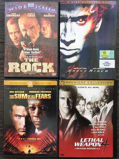 DVD - 4xmovies (The Rock, Ghost Rider, The Sum of All Fears & Lethal Weapon 4)