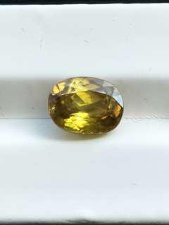 專業收藏級寶石 6.16克拉 天然超閃光榍石