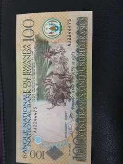 UNC Rwandan francs rare