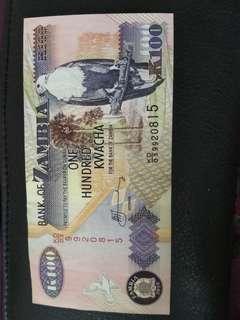 UNC 100 kwacha zambia