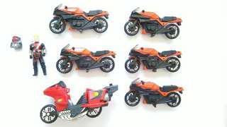 M.A.S.K MASK Kenner lot of Firecracker motorcycle Vampire good chrome!!!