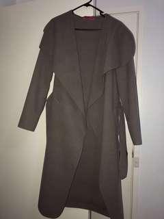 Waterfall coat - mocha