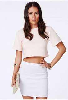 Hansa Scuba Mini Skirt White