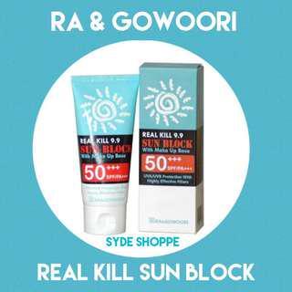 RA&GOWOORI REAL KILL 9.9 SUNBLOCK WITH MAKEUP BASE SPF50+
