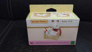 正版 Sylvanian Families 森林家族 baby crib BB床及啡兔陪BB睡公仔 全新 未開封 購自日本