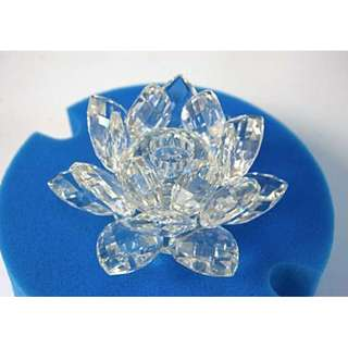 SWAROVSKI CRYSTAL 'MEDIUM WATERLILY CANDLEHOLDER' with original box
