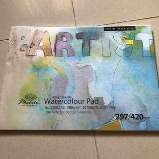Watercolour paper pad A3 Sketchbook