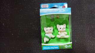 Sylvanian Families 正版 森林家族 Chihuahua Dog Twins BB 兩隻 連 奶樽 及 奶咀 各一 全新 購自日本