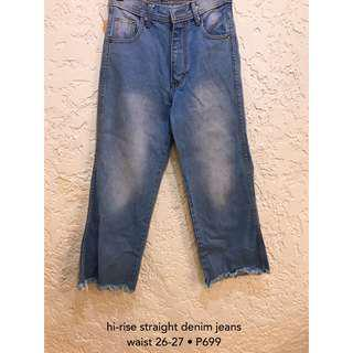Hi-rise Straight Denim Jeans