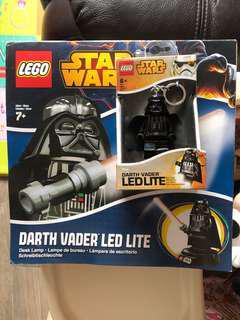 Lego Star Wars Darth Vader LED 座枱燈 + 電筒匙扣