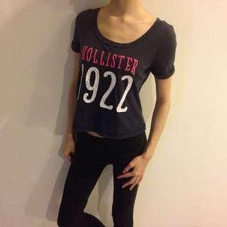 🆓📮 Hollister Cropped T-shirt #50Under