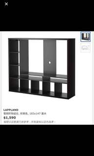 IKEA 電視組合櫃 包4個箱 Lappland 宜家 電視貯物組合 黑松木 電視櫃 TV cabinet