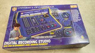 Digital recording studio playset