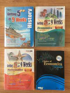 Economics/history/mathematics參考書, DSE 適用