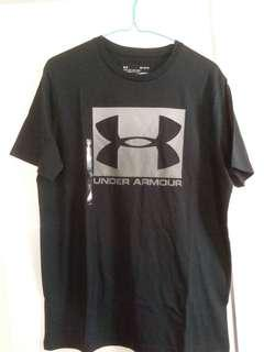 Under Armour 男裝黑色 T-Shirt