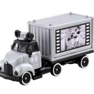 預訂 全新原裝正版 TOMICA TAKARA tomy Motors Disney Motors : Goody Carry Mickey Mouse 90th 1928 Edition特別版 迪士尼 米奇 米老鼠 90周年紀念 1928年 宣傳車 銀白 合金車仔(不是Bandai ,sanrio  ,Pinocchio,lego,麵包超人)