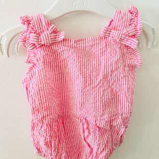 COTTON ON Baby Girl Bow Playsuit