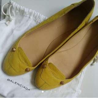 BALENCIAGA Flats Mustard Yellow Gold Studs