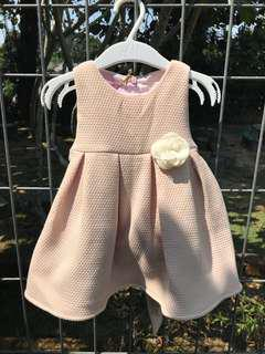 Babygirl Dress with Flower Detail