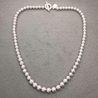 Ralph Lauren Sample Necklace 銀色波波頸鏈 全長18吋