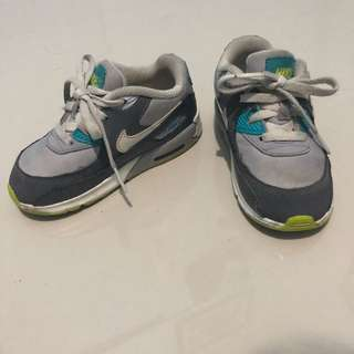 Nike air max shoes 25 8 14cm sepatu anak bayi toddler cowo laki hijau