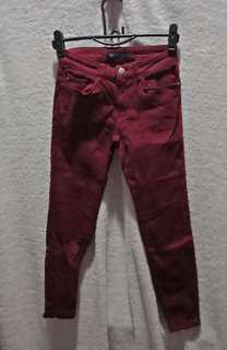 #onlinesale ZARA Celana Jeans Marroon