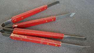 Vintage wooden handle Tongs