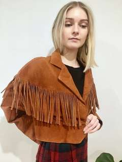 ⚡️80s FRINGE LEATHER JACKET ⚡️