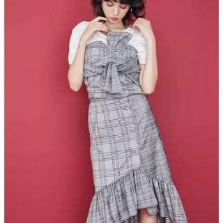 dazzlin 2018年秋季 格仔衫+下身裙