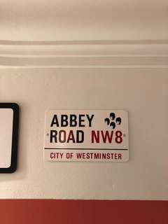 London Abbey Road Street Sign with Beatles Motif