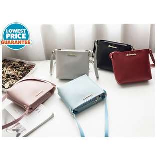 (Ready Stock) Pastel Pink Colour Small Sling Bag